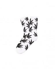 chaussette-cannabis-blanche-noire-feuille