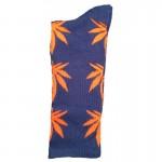 chaussette-cannabis-bleu-orangefeuille