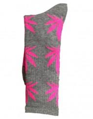 chaussette-cannabis-grise-et-rose-feuille