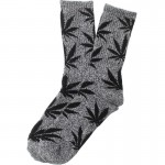 chaussette-cannabis-grise-noire-feuille