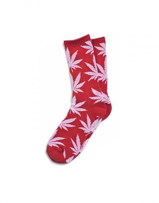 chaussette-cannabis-rouge-et-blanche-feuille
