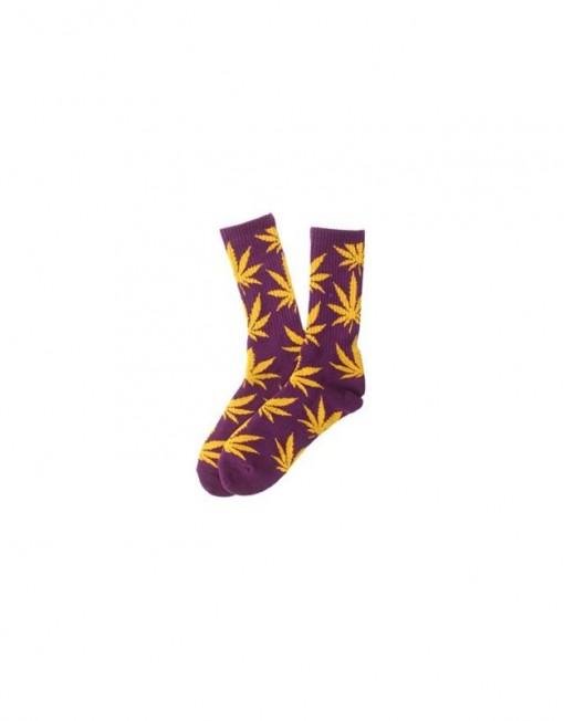 chaussette-cannabis-violette-et-jaune-feuille